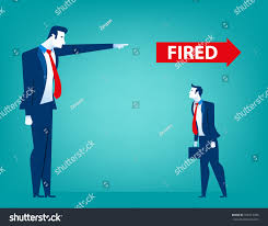 Manager Pointing Fired Businessman Losing Job Stock Vector