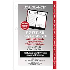 Daily Calendar Classy Amazon ATAGLANCE 48 Daily Desk Calendar Refill With