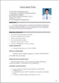 Resume Formats In Word