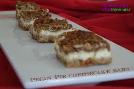 pecan pie cheesecake bars. Plain Pecan On Pecan Pie Cheesecake Bars