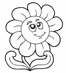 Small Picture Coloring Pages Of Flowers Simple Flower Coloring Pages For Kids