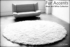 white fur area rug com fur accents classic round sheepskin area rug off white faux fur