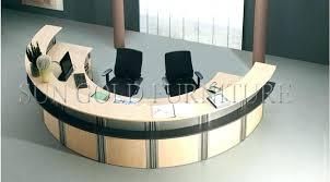 semi circle desk modern customized wood reception half pad elegant regency circular faux bamboo me circle desk office half