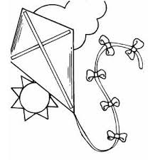 Kite In The Sky Coloring Page