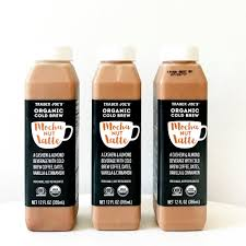 Coffee comes firstwe've got nothing against a little sweetness or flavor. Meet Your New Favorite Dairy Free Cold Brew Mocha Latte From Trader Joe S Cold Brew Packaging Milk Packaging Cold Brew