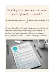 Should Your Resume And Cover Letter Font Style And Size Match Bunch