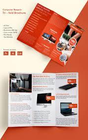 tri fold brochure word pdf psd eps beautiful computer repair a3 tri fold brochure computer repair a3trifold brochure