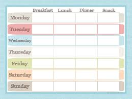 Menu Planner And Grocery List Printable Set Juggling Act Mama