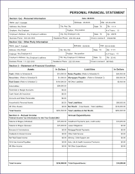 Personal Financial Statements Example Ready Statement Template ...