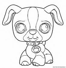 Littlest Pet Shop Coloring Pages Dog