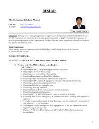 Hvac Resumes Example Hvac Best Resume And Cover Letter Examples