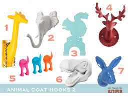 colorful fun animal hooks