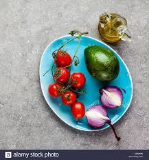 Light Mozzarella Cheese Nutrition Fresh Ingredients For Salad From Avocado Tomato And
