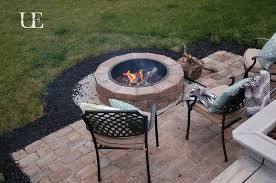 paver patio with fire pit. Diy Paver Patio And Fire Pit, Concrete Masonry, Decks, Outdoor Living, With Pit O
