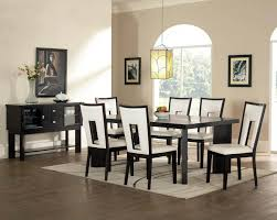 black dining room sets. Black Dining Room Furniture Sets New Decoration Ideas And White Set Featured Upholstered Leather Chairs Design Plus Unique Yellow Pendant