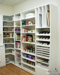 Modern Kitchen Pantry Designs L Shaped Pantry One Wall Shelves Corner Shelf Other Wall Bench