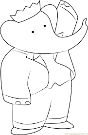 Babar The Elephant Coloring Page Free Babar Coloring Pages
