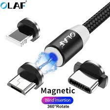 <b>OLAF 3A Magnetic</b> Cable 2m phone charging cord Micro USB Cable ...