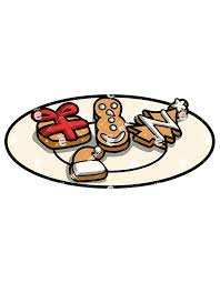 plate of christmas cookie clip art. Delighful Clip Christmas Cookies On A Plate  Cartoon Vector Clipart Of Cookie Clip Art T