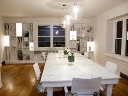 rectangular dining room chandelier. Round Glass Pendant Lamp Low Ceilings White Wall Paint Color Brown Laminate Wooden Flooring Rectangular Dining Room Chandelier I