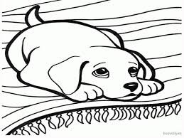 mother dog watches her puppies dog coloring page source. winning ...