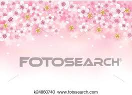 Cherry Blossom Background Clipart K24860740 Fotosearch