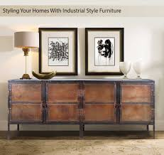 Industrial style furniture Oak Industrial Style Furniture Industrial Black And Brown Iron Door Large Buffet Cabinet Sierra Living Concepts Styling Your Homes With Industrial Style Furniture