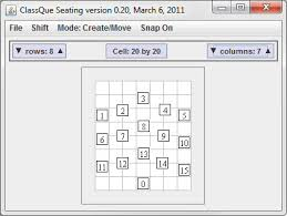 Class 1 A Seating Chart Classque Seating Chart