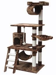 go pet club f inch cat tree condo furniture brown amazonca