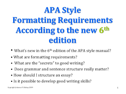 Apa 6th Edition Research Paper Template Writing A Paper In Apa 6th Edition Format