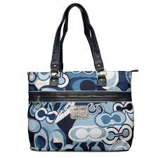 ... sale coach fashion poppy logo large blue totes enx d608b 15ecd best  price coach poppy bowknot signature medium ...