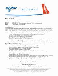 Resume For Flight Attendant No Experience New Flight Attendant Cover