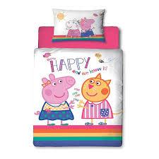 peppa pig ay junior duvet cover set