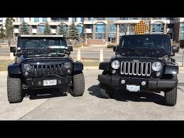 2 door vs 4 door jeep wrangler stock vs upgrades