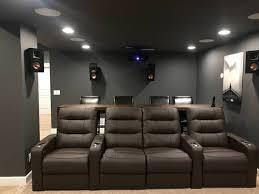 Basement Home Theater Lighting Basement Home Theater In 2020 Home Theater Rooms Home