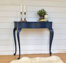 sofa hall table. This Vintage Queen Anne Hall Table With Bow Front Has Been Painted In A Deep Intense Sofa L