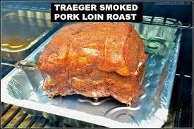 traeger smoked pork loin roast the