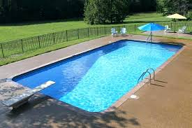Standard Size Inground Pool Architecture Pools Luxury County Small