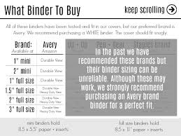 3 Ring Binder Size Chart Rbt Bags Covers