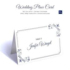 Wedding Place Card Template Free Word Templates Table