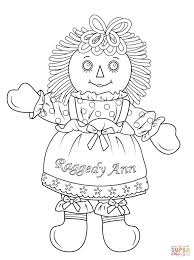 Raggedy Ann Doll Coloring Page For Doll Coloring Pages Coloring