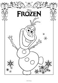 Kleurplaat Disney Frozen Olaf Kleurplatennl
