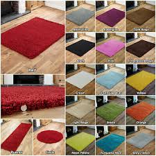 details about thick modern high pile plain soft non shed small large rug round runner