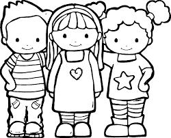 Preschool Friendship Coloring Pages Preschool Friendship