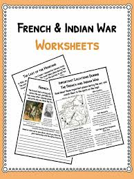 french n war facts worksheets for kids seven years war  the french and n war facts worksheets