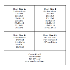 Chain Tire Size Chart Png