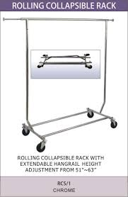 Collapsable Coat Rack Collapsible Garment Clothes Rail And Fashion Trolley Pertaining To 72