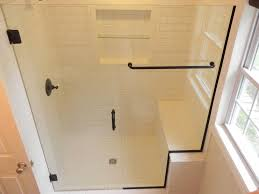 shower enclosures with bench. Wonderful Shower Glass Shower Doors Over Bench With Shower Enclosures Bench