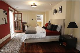 Red, Black, And White Bedroom Idea