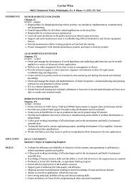 Engineering Resume Examples Robotics Engineer Resume Samples Velvet Jobs 38